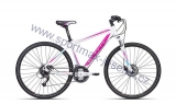 Dámské kolo cross CTM ELITE 1.0 white/purple