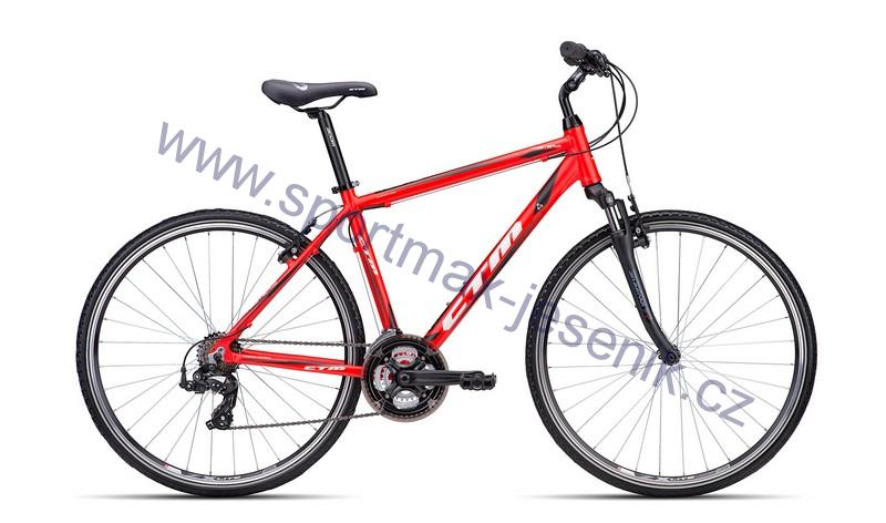 Pánské kolo cross CTM TWISTER 1.0 matt red/black