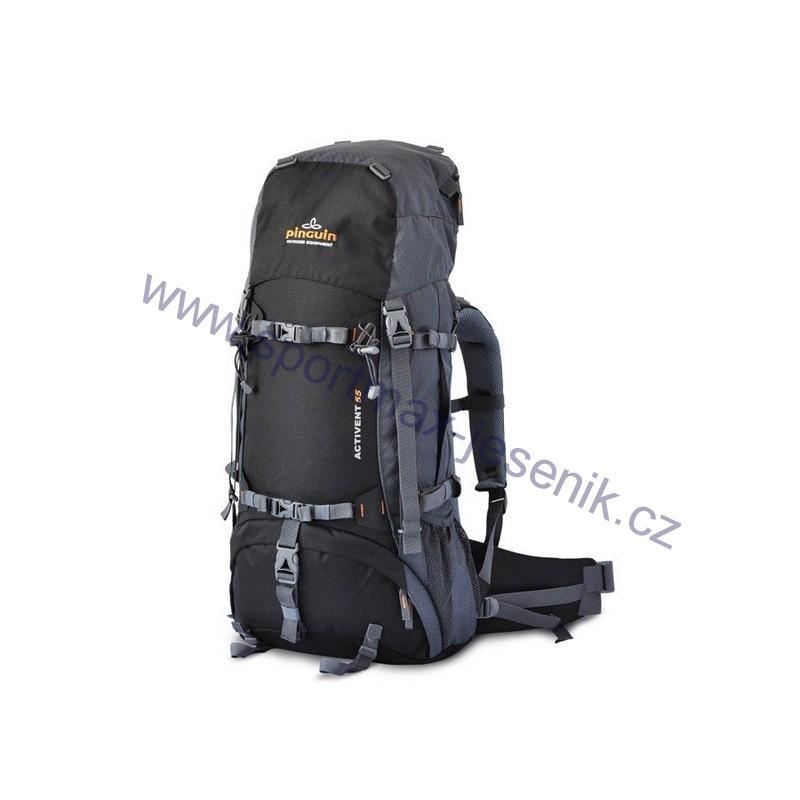 7e5db46e14 Turistický batoh Pinguin ACTIVENT 55 černý
