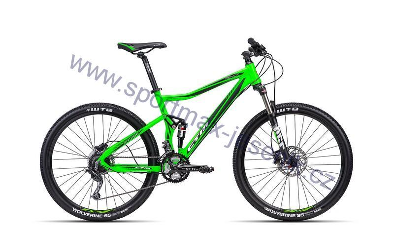 Celoodpružené kolo CTM REVOX matt reflex green/black