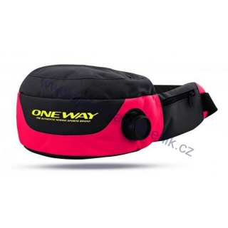 Ledvinka ONE WAY thermo drinking belt pink black