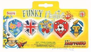 Letky sada HARROWS Funky Flights 5 Pack